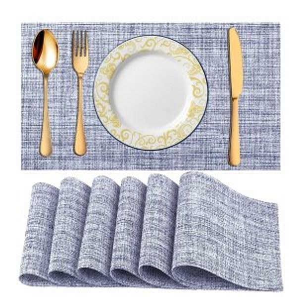 McoMce Placemats for Dining Table, 6 Pack @Amazon