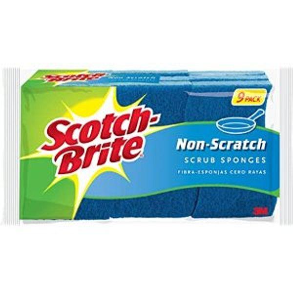 Scotch-Brite Non-Scratch Scrub Sponge, 9-Sponges @Amazon