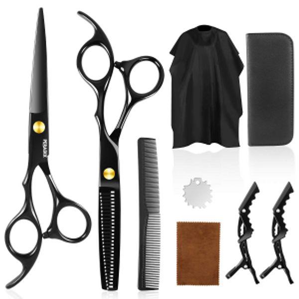 Peradix Store Hair Cutting Scissors Shear Kit 9 PCS @Amazon