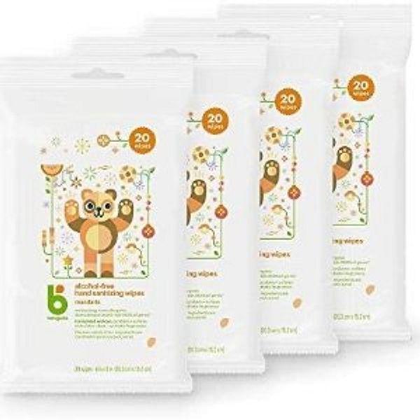 Babyganics Alcohol-Free Hand Sanitizer Wipes, Mandarin, 20 ct, 4 Pack @Amazon