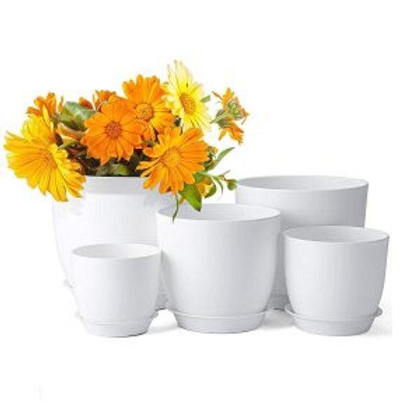 Delxo 5pcs Plant Pots @Amazon