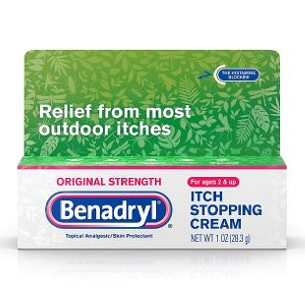 Benadryl Original Strength Anti-Itch Relief Cream for Most Outdoor Itches, Topical Analgesic, 1 oz @Amazon