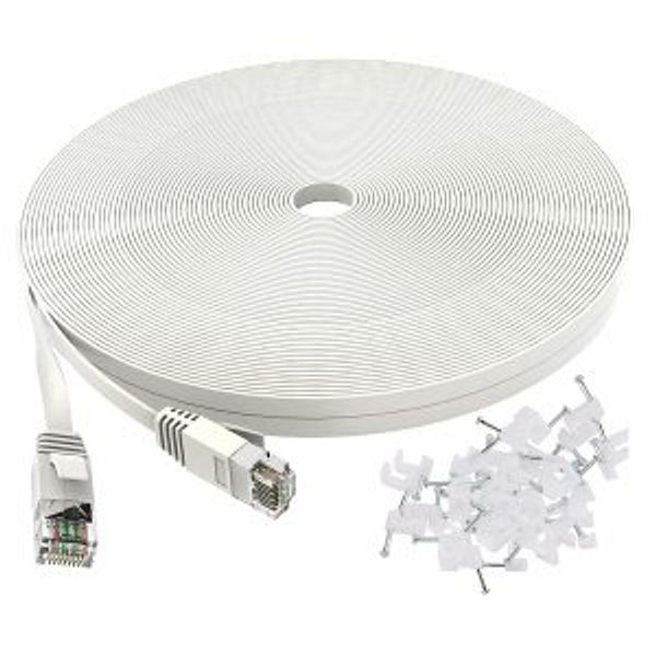 Cat 6 Ethernet Cable 50 ft White @Amazon