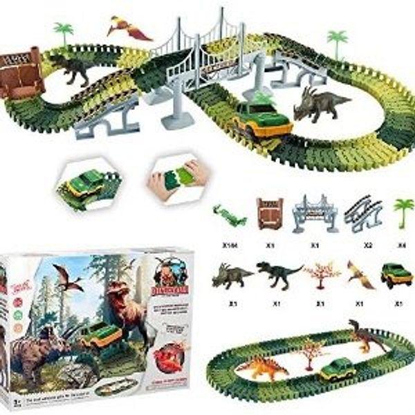 Dinosaur Toys Track Build an Dinosaur Adventure Race Car Track Set