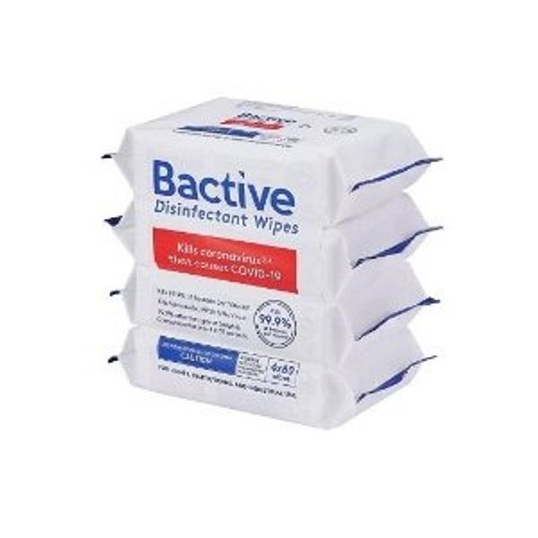 Bactive Disinfectant Wipes (320 Total Wipes; 80 per pack, 4 pk.)