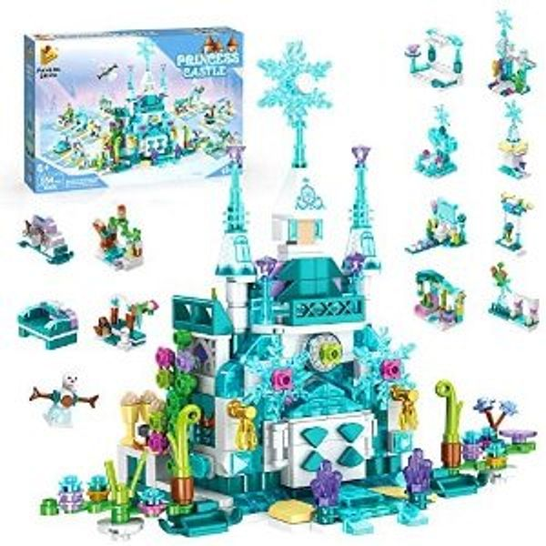 Holiky Building Toys Ice Palace Castle Style