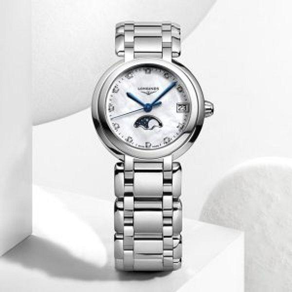 Dealmoon Exclusive: LONGINES Prima Luna Quartz Diamond White Dial Watch