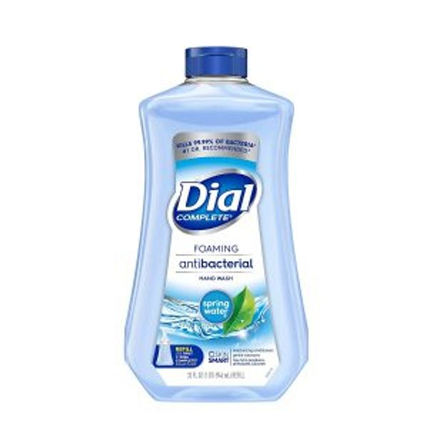 Dial Complete Antibacterial Foaming Hand Soap Refill, Spring Water, 32 Fluid Ounces @Amazon