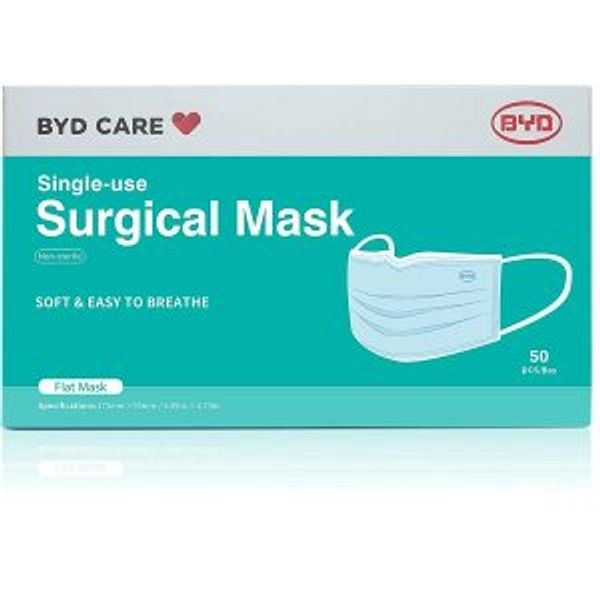 BYD CARE Single Use Disposable 3-Ply Procedural Mask @Amazon