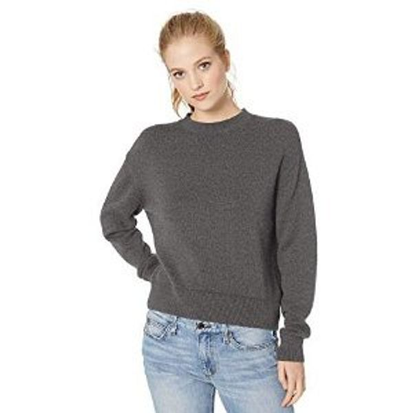 Amazon Brand - Daily Ritual Women's 100% Cotton Long-Sleeve Crewneck Pullover Sweater