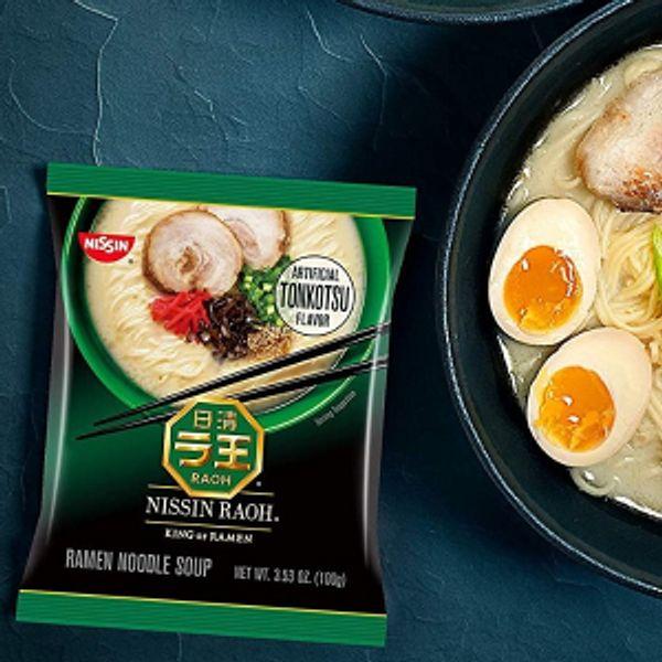 Nissin RAOH Tonkotsu Flavor Ramen Pack of 6 @amazon
