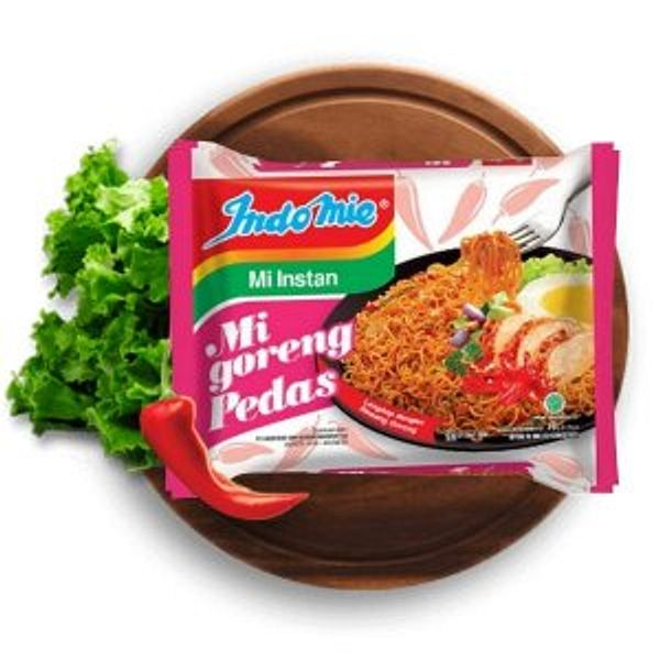 Indomie Mi Goreng Instant Stir Fry Noodles, Halal Certified, Hot & Spicy / Pedas Flavor (Pack of 30) @Amazon