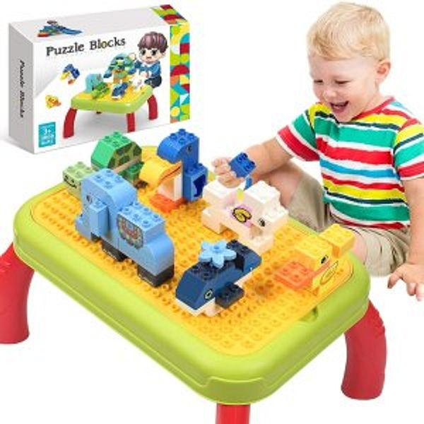 HOMOFY Building Block Table for Toddler @Amazon