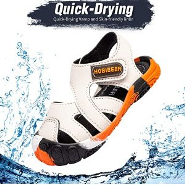 WOUEOI Non-Slip Boys Water Shoes