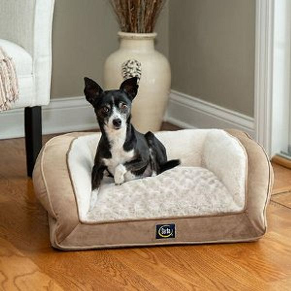 "Serta Perfect Sleeper Memory Foam Blend Couch Pet Bed, 24"" x 20"""