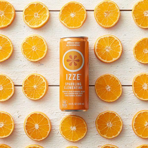 IZZE Sparkling Juice, Clementine, 8.4 Fl Oz (12 Count)