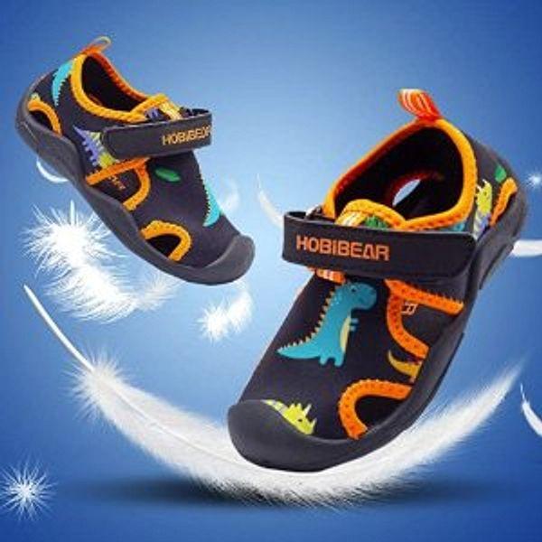 HOBIBEAR Boys Girls Water Shoes Quick Dry Closed-Toe Aquatic Sport Sandals