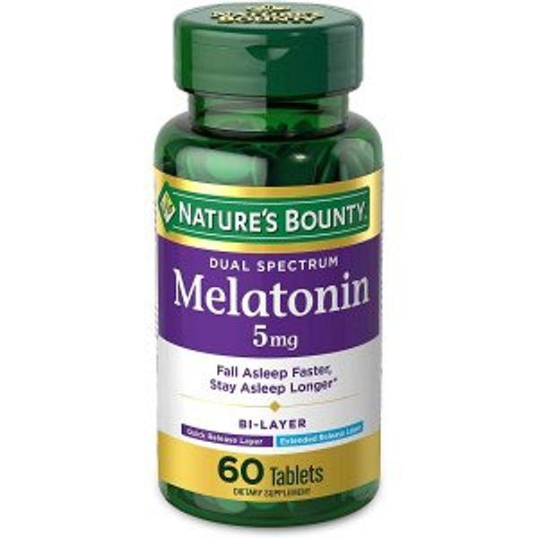 Nature's Bounty Melatonin 100% Sleep 5mg, 60 @Amazon
