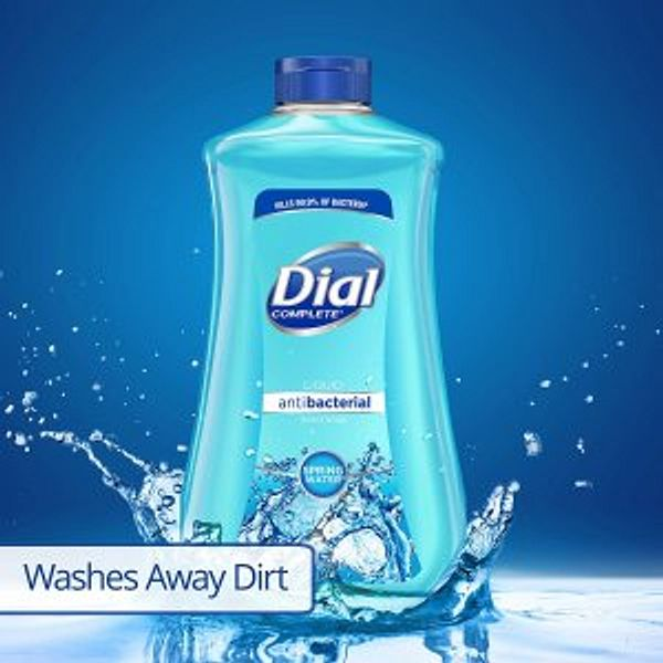 Dial Antibacterial Liquid Hand Soap Refill, Spring Water, 32 Fl Oz @Amazon