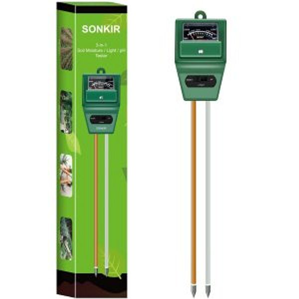 Sonkir Soil MS02 3-in-1 Soil Moisture/Light/pH Tester @Amazon