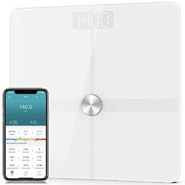 1byone Bluetooth Body Fat Scale for Body Weight, Smart Digital Bathroom Weight Scale