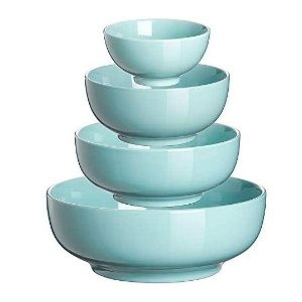 DOWAN Serving Bowl Porcelain, Ceramic Mixing Bowl