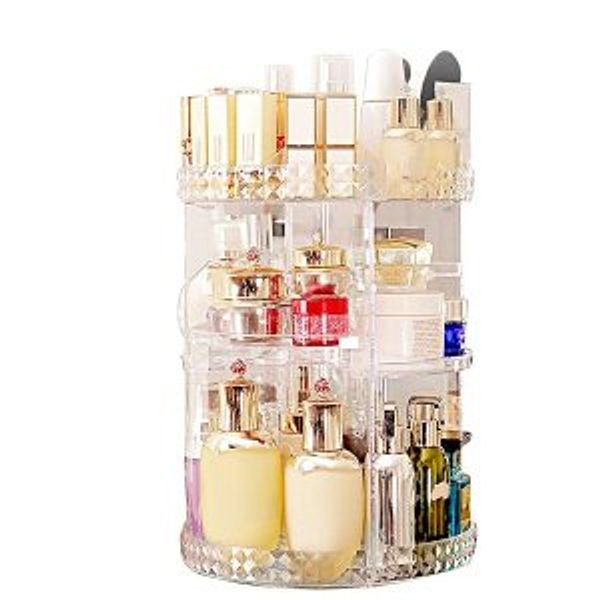 MISERWE Makeup Organizer 360 Degree Rotating 7 Adjustable Layers @Amazon