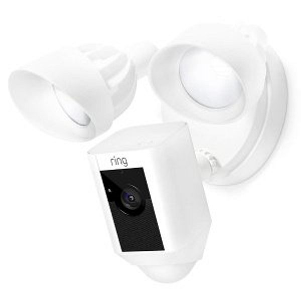 Ring Floodlight Camera Motion-Activated HD Security Cam Two-Way Talk and Siren Alarm, White @Amazon