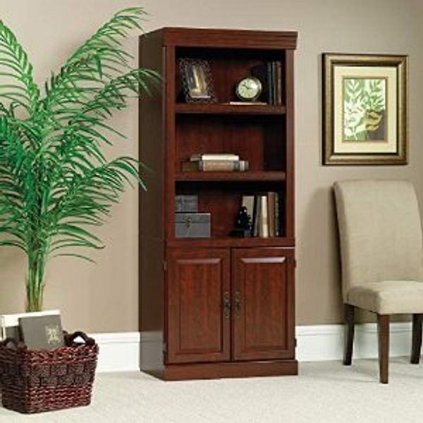 Sauder Heritage Hill Library With Doors Classic Cherry finish @Amazon
