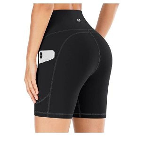 IUGA Workout Shorts for Women with Pockets High Waisted Biker Shorts for Women Yoga Shorts Running Shorts