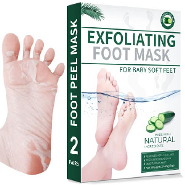 SEXROV Foot Peel Mask 2 Pack For Cracked Heels @Amazon