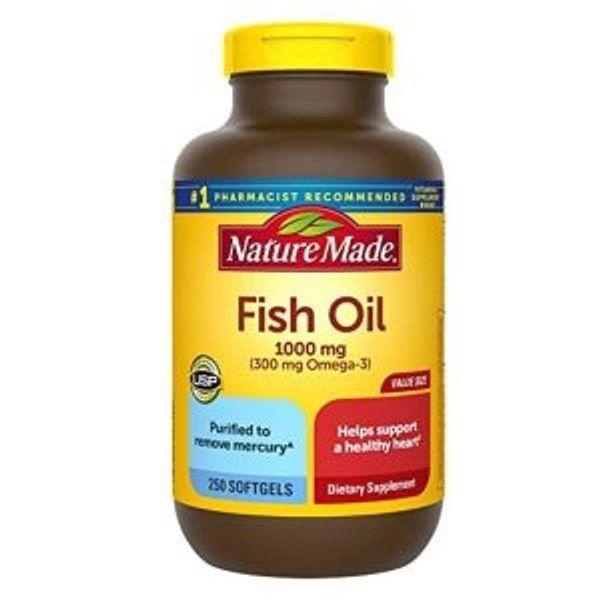 Nature Made Fish Oil 1000 mg, 250 Softgels