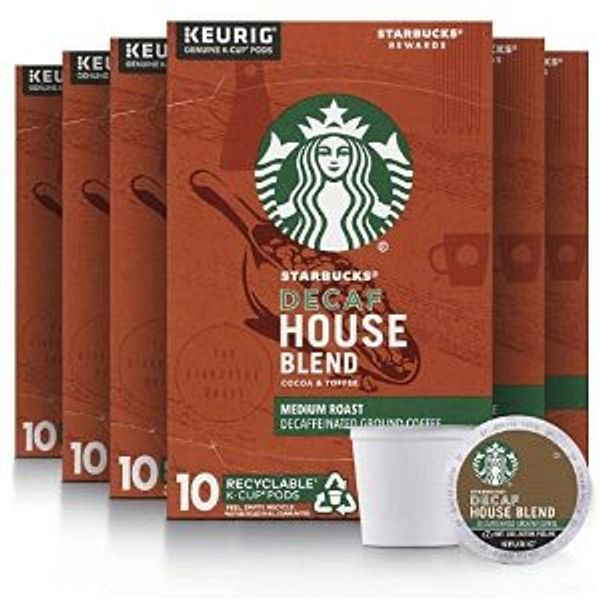Starbucks Decaf K-Cup Coffee Pods ,60 pods