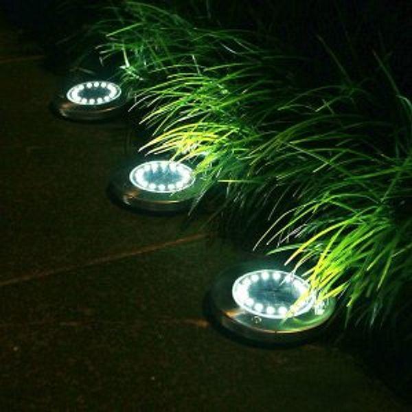 StarGinz 10 LED Solar Lights Outdoor Waterproof Auto Control Outdoor Solar Disk Lights