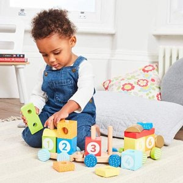 Early Learning Centre Wooden Stacking Train @Amazon