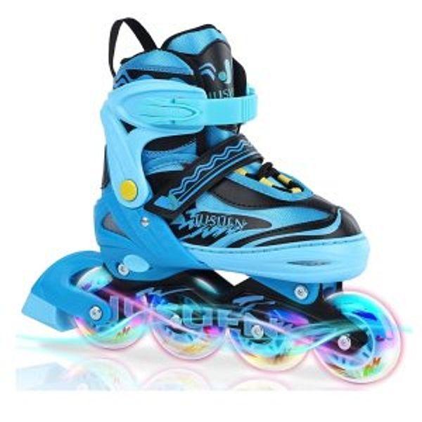 JUSUEN Inline Skates Adjustable for Kids