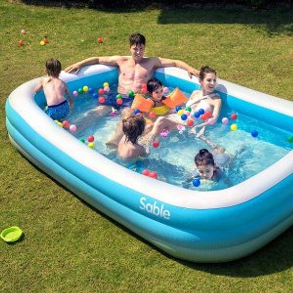 """Sable Inflatable Pool, 118"""" X 72"""" X 22"""""""