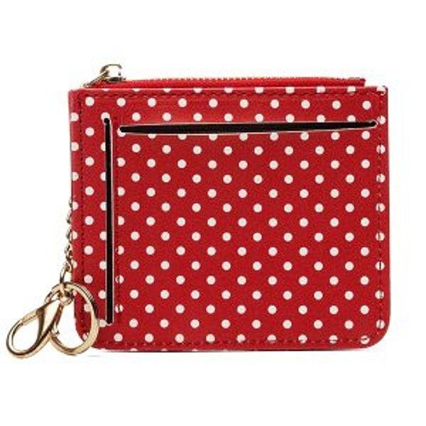 JOSEKO Women Cute Animal Shape Neck Bag Wave Dot Card Holder Wallet Coin Purse