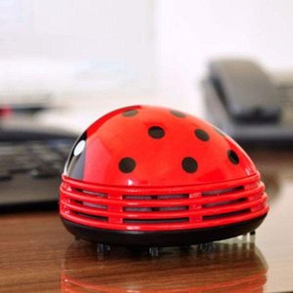 E ECSEM Cute Portable Cartoon Mini Desktop Vacuum Desk Dust Cleaner Crumb Sweeper