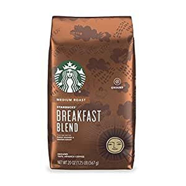 Starbucks Breakfast Blend Medium Roast Ground Coffee 1 bag (20 oz.)