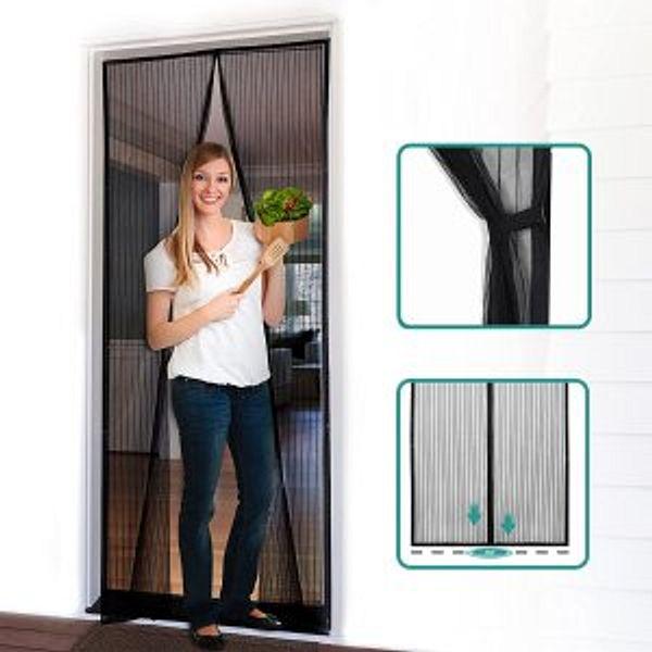 Homitt Magnetic Screen Door with Heavy Duty Mesh Curtain