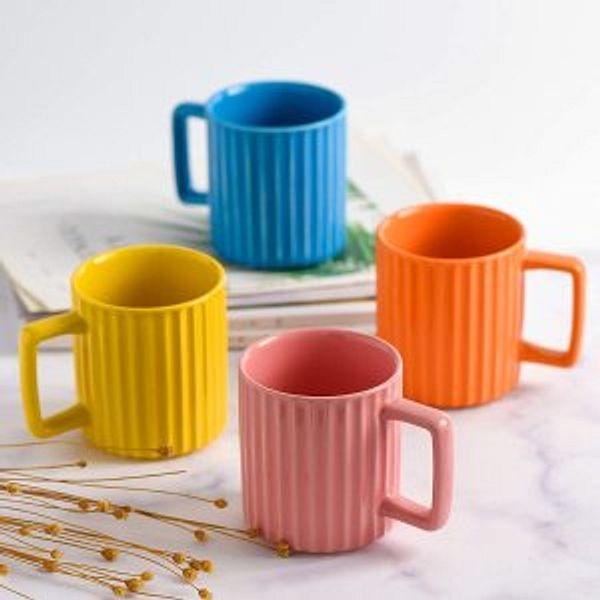 NEWANOVI Porcelain Fluted Mug Set