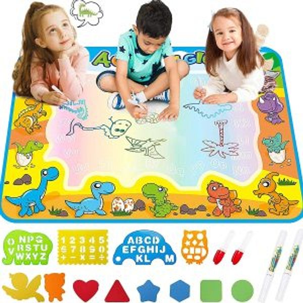 FREE TO FLY Kids Toys Water Doodle Mat  - Dinosaur Learning Toy for Painting and Drawing