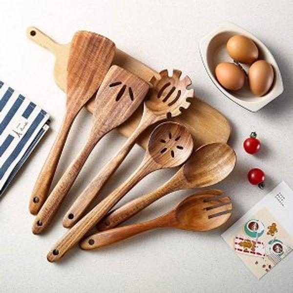 Tmkit Wooden Cooking Utensils Set of 6