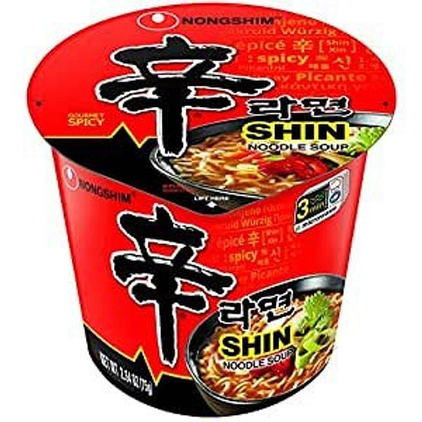 Nongshim Shin Cup Noodle Soup, Spicy, 2.64oz 6pks