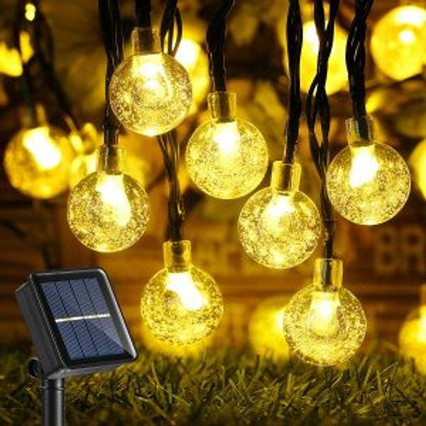 Joomer Outdoor Solar String Lights 39Ft 60 LED Upgraded Solar String Lights
