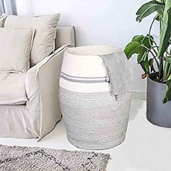 "Laundry Hamper 25.6"" Height Wicker Laundry Baskets"