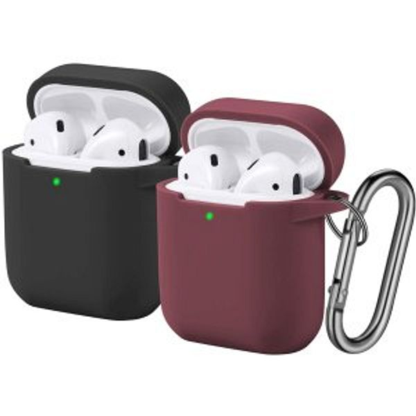 Funbiz Designed for Airpods Case Cute Silicone Cover with Keychain