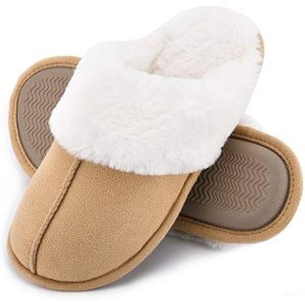 DL Women's Memory Foam House Slippers