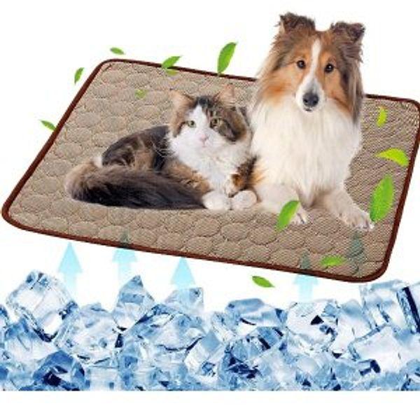 SOMOYA Dog Self Cooling Mat Pet Washable Summer Cooling Pads Cooling Blanket Hot Weather Sleeping Kennel Mat